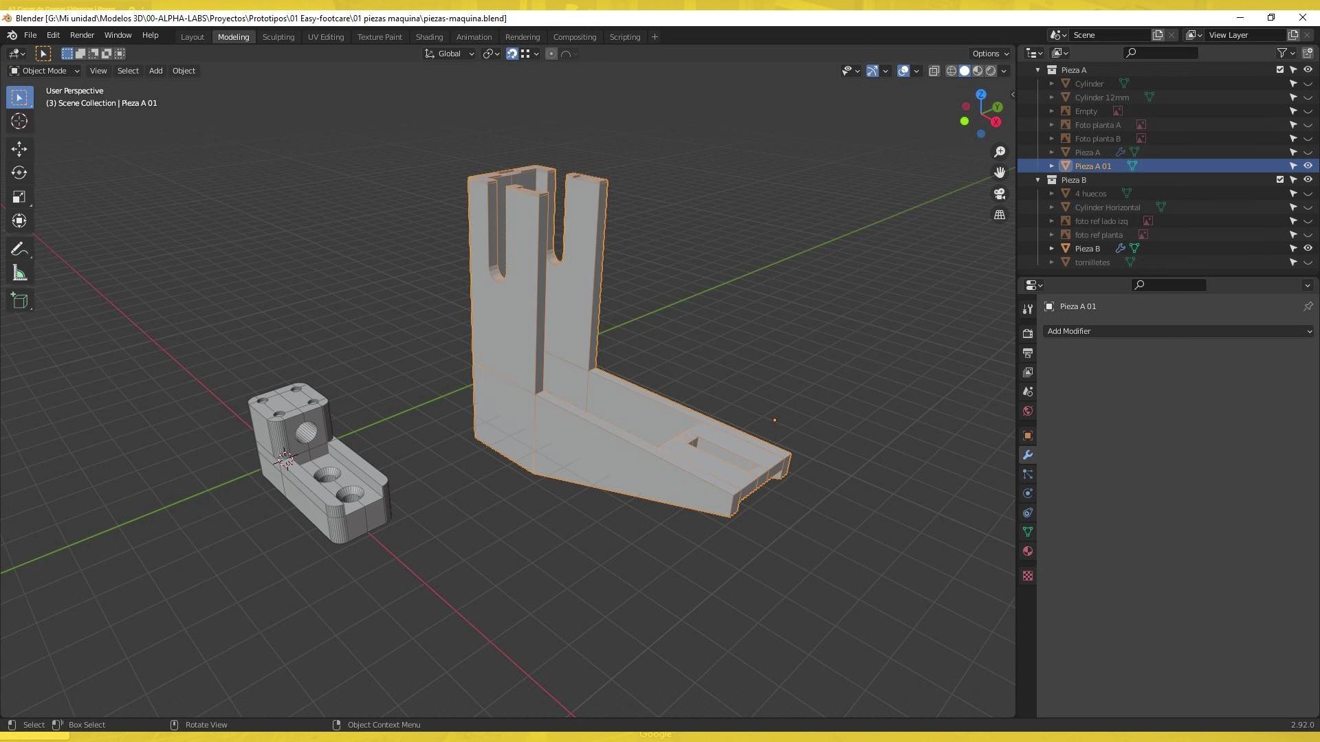 Piezas en 3D para retractiladora