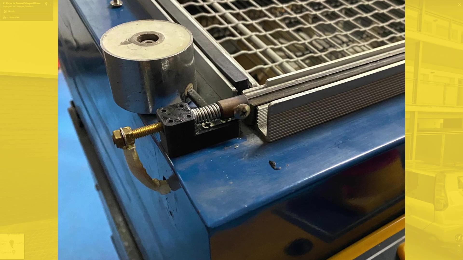 Pieza fabricada en ABS para maquina retractiladora